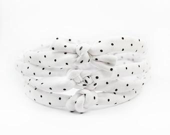 Newborn Headband, Baby Knot Headband,  Skinny Knot Headband, Polka Dot Headband, Baby Bow, Small Bow, Top Knot, Knotted Headband, Baby Girl