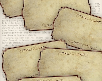 Blank Labels printable labels add text organzing scrapbooking paper crafting instant download digital collage sheet - VD0800