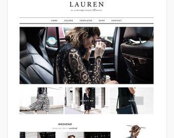 "Wordpress Theme Responsive Ecommerce Theme Design ""Lauren"" - Genesis Website Theme"