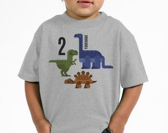 Robot Dinosaur Birthday Shirt - Personalized Dinosaur Shirts - Dinosaur Birthday Party - 1st, 2nd, 3rd, 4th Custom Birthday Shirts - Dino