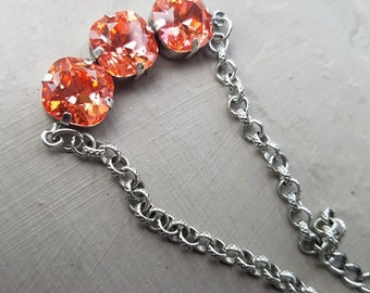 3 Setting Padparadscha Bracelet