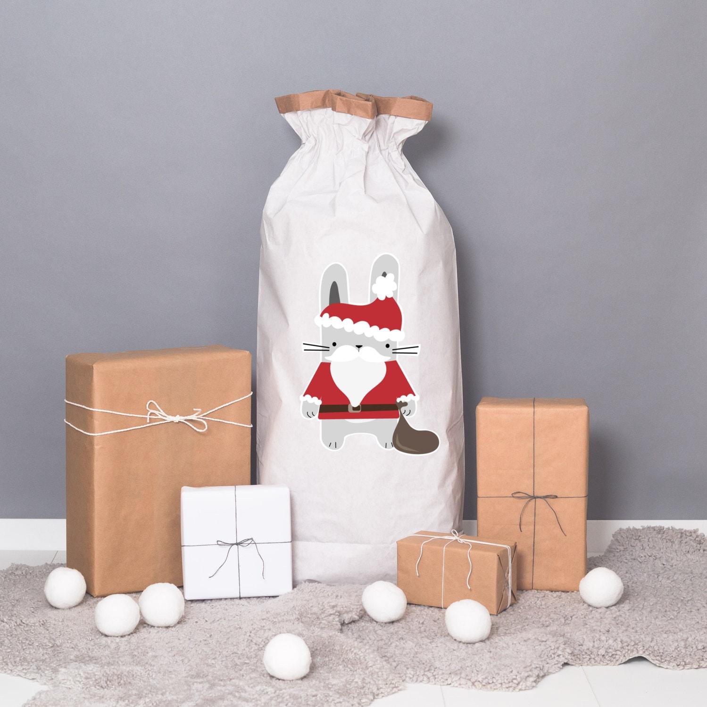 Powder cloud-Paper sack XXL Christmas Bunny