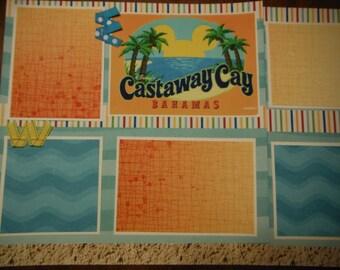 Disney's Castaway Cay Title for Scrapbook