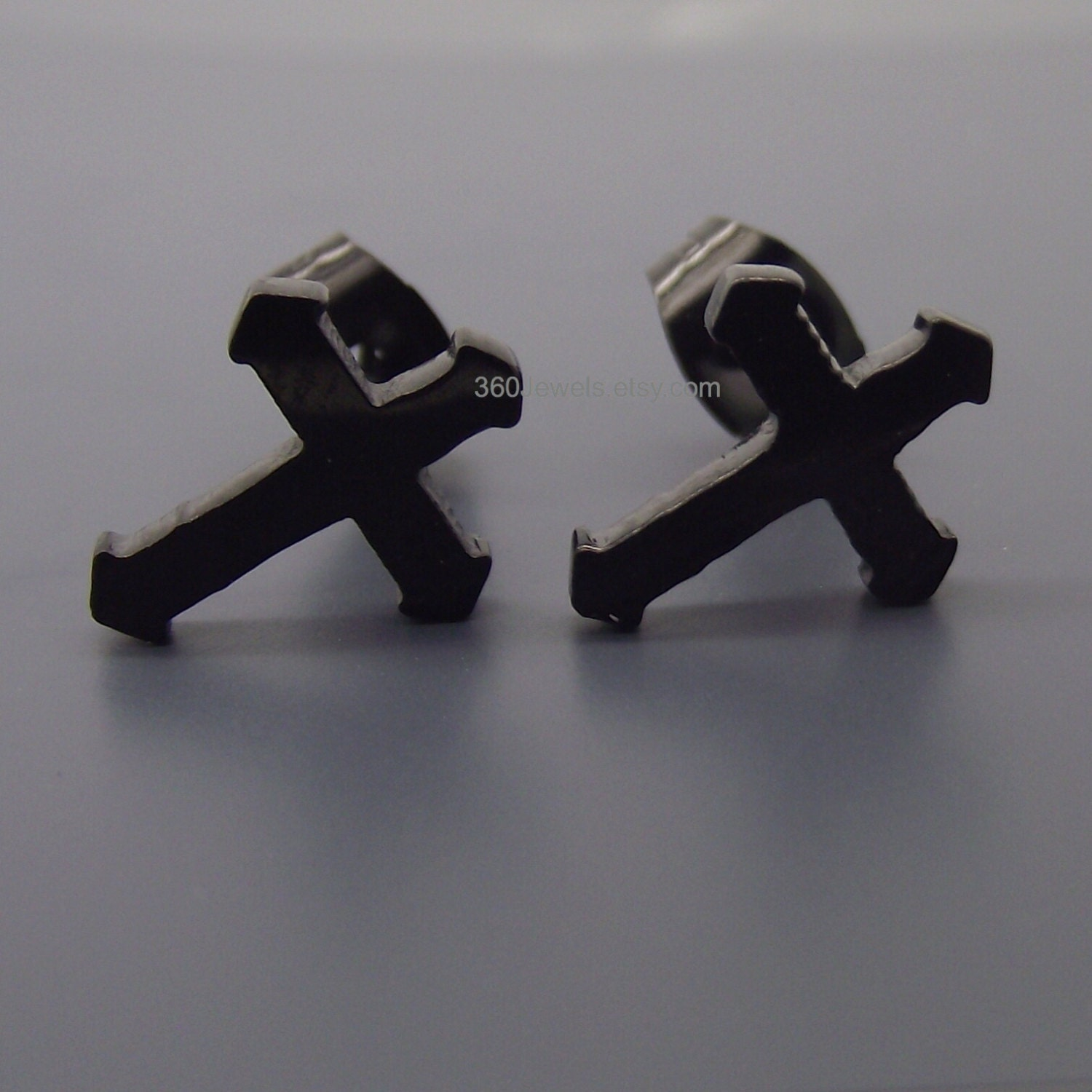 by cross earrings daniel stud small designs black