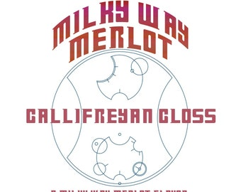 CLEARANCE! Milky Way Merlot Gallifreyan Gloss - Merlot Flavored / Pink Wine Colored Lip Gloss - Doctor Who Inspired
