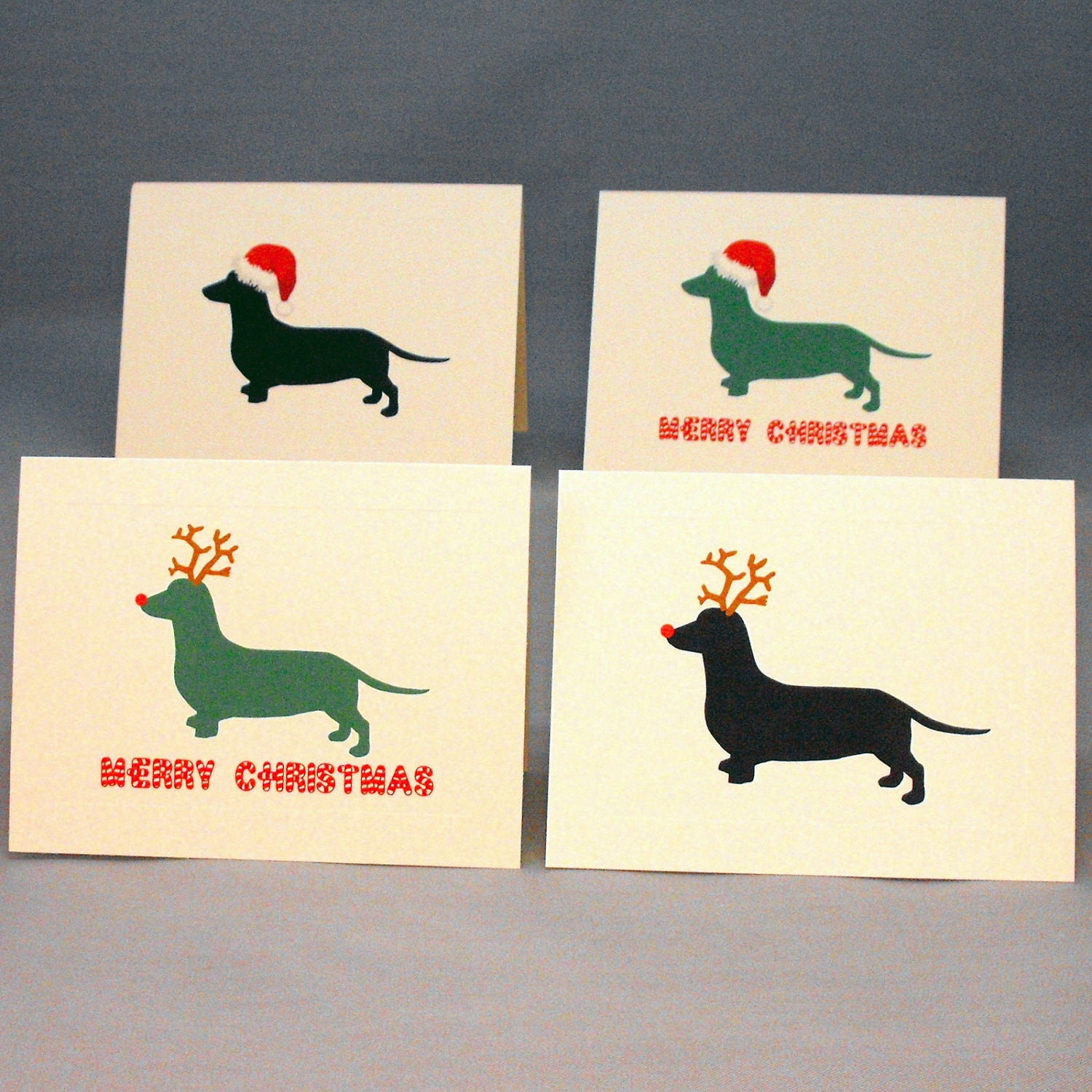 Dachshund dog christmas card set doxie holiday cards zoom kristyandbryce Image collections