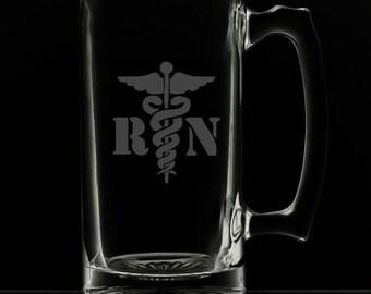 25 Ounce Registered Nurse Personalized Beer Mug
