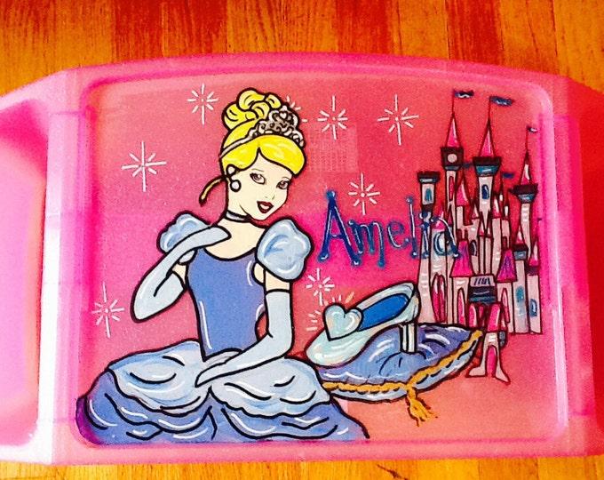 cinderella activity tray, cinderella tv tray, cinderella art tray, Princess activity tray, cinderella lap tray, princess lap activity tray