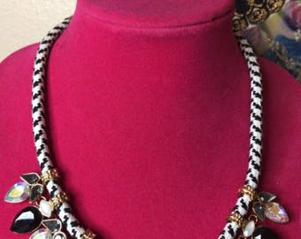 Black and white BLING necklace