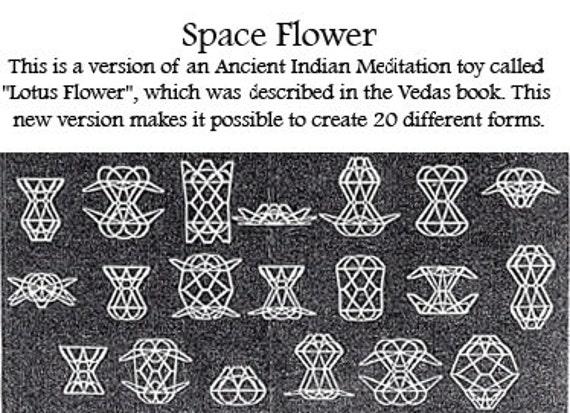 Space flower meditation toy lotus flower handmade mandala 50 mightylinksfo