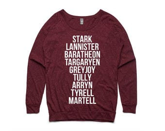 Game of Thrones Houses Women's Pullover by So Effing Cute - USA