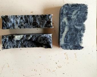 Geranium Activated Charcoal Hot Process Soap