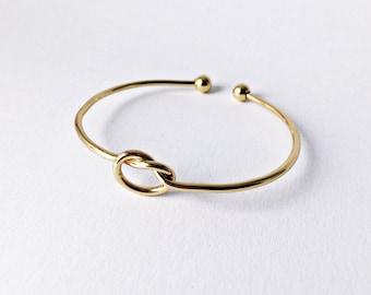 Bracelet Knot GOLD, Bracelet Knot, Bracelet. Friendship Bracelet, Infinity Love