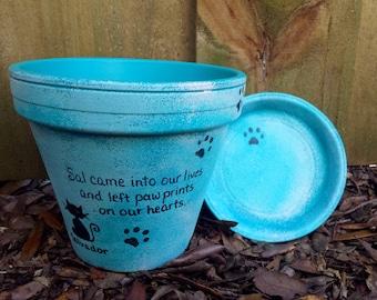 Pet Sympathy Gift - Painted Flower Pot - Pet Memorial Gift - Dog Memorial Gift - Memorial Planter - Cat Memorial Gift - Pet Memorial Gift