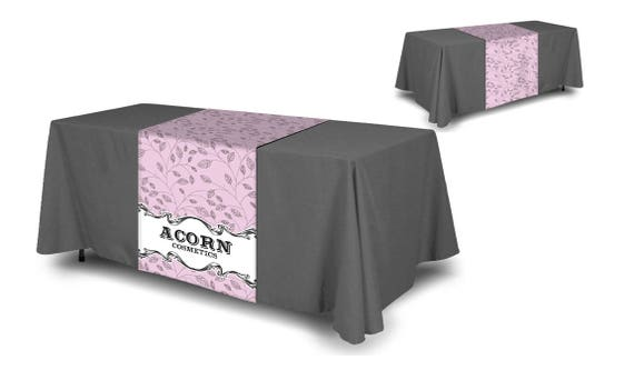 Custom Table Runner 24 X 72 Or 36 X 72 Trade Show Table Runner, Craft Show  Decor, Personalized Table Runner And Tablecloth,