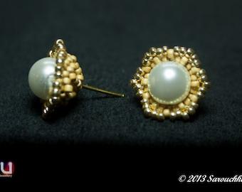 "Tutorial for earrings ""Buttercup"""