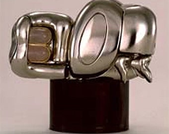 Miguel Berrocal, Mini Zoraida, Original, Signed and Numbered, with COA. Puzzle Sculpture Nickel plated Metal, 1969