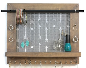 bedroom organizer. Jewelry Organizer  Wall Decor Home Bedroom organizer Etsy