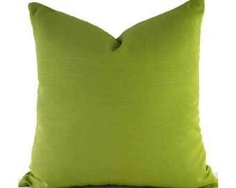 Outdoor Pillows Outdoor Pillow Covers Decorative Pillows ANY SIZE Pillow Cover Solid Green Pillows P Kaufmann Outdoor Forsythe Kiwi