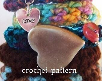crochet pattern digital download soft sculpted bangles