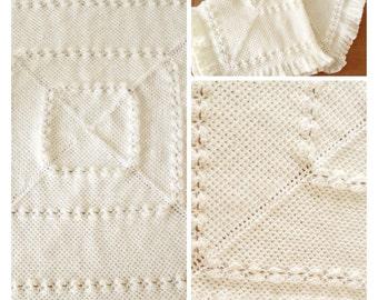 SALE! CHERISH baby blanket knitting pattern