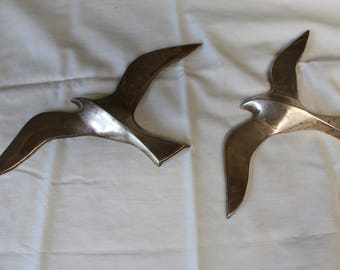 Two Brass Seagull's - Wall Decor