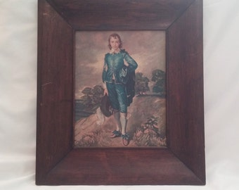 "1960s Framed Thomas Gainsborough ""Blue Boy"" Winde Fine Print"