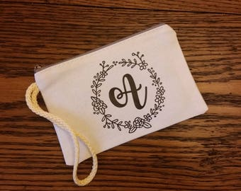 Personalized Zipper Wristlet