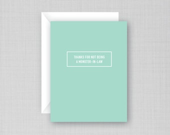 Mother In Law Card | Monster In Law | Mother's Day Card | Funny Mother-in-law card