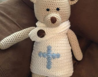 Christening Baptism Dedication First Communion Keepsake Teddy Bear