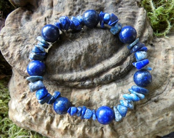 """Jewels, bracelet, power bracelet, """"Lucky"""" from lapis lazuli, Waldorf, Reiki, chakra"""