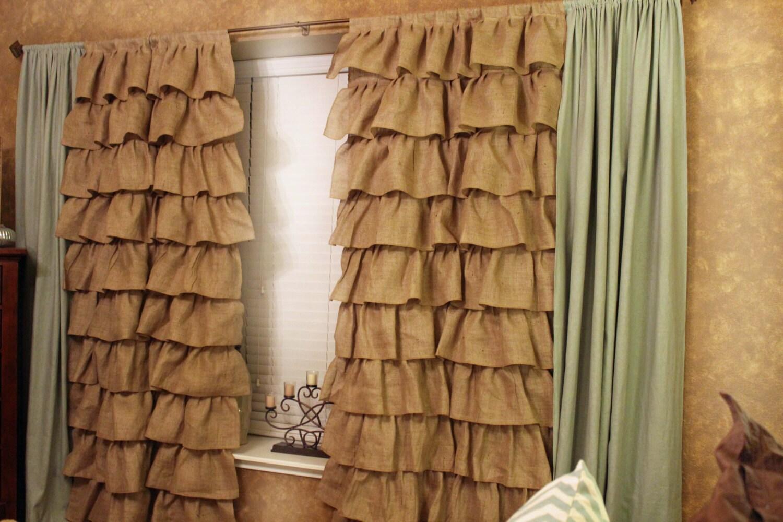 curtain products satin ruffled panel curtains ruffle tadpoles
