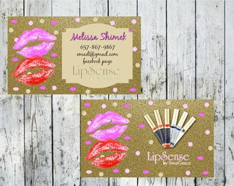 LipSense Business Cards with option Tips & Tricks on back