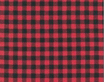 Cardinal Red Buffalo Plaid FLANNEL From Robert Kaufman's Burly Beaver Collection by Andie Hanna