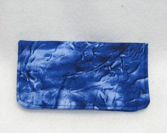 Check book case, Blue Check Book Cover, checkbook cover, fabric checkbook cover, checkbook holder, checkbook cover case, checkbook wallet