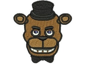 Face Five Nights at Freddy's freddy fazbear EMBROIDERY Design Fill Design Machine Embroidery Instant Download ER600F