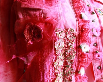 Pink jacket wearable Art Fashion