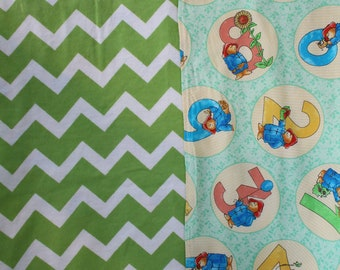 Baby Swaddling Blanket Paddington Bear Greens