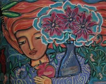 Prints of Divine Feminine Paintings-Sacred Dreamer