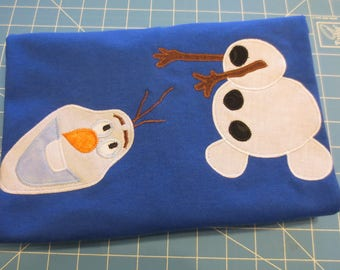 Frozen OLAF Head Off Snowman Custom Boutique Hand Applique T SHIRT Tee HoLiDaY Vacation