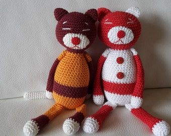 AMINEKO. Cat crochet. AMIGURUMI
