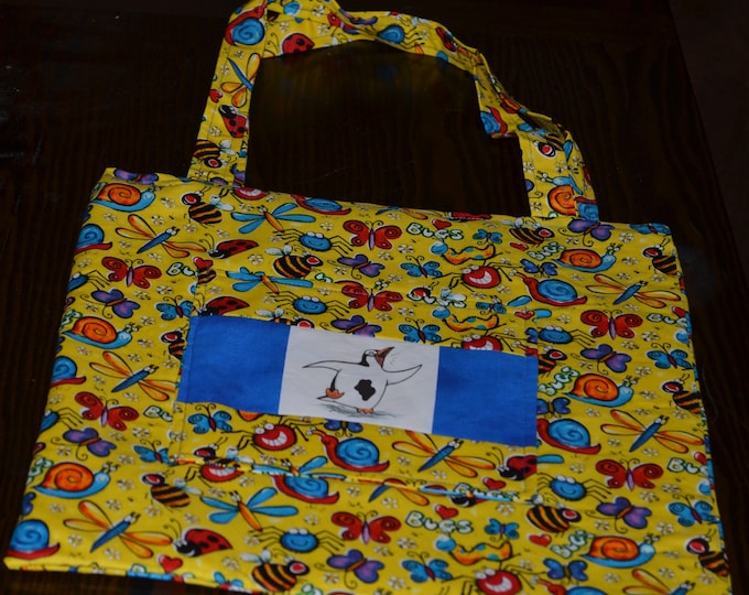 Featured listing image: Penguin Book Bag for Kids (Bugs)