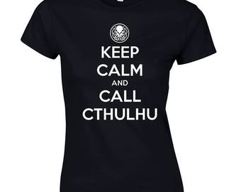 Women's t-shirt Keep Calm and Call of Cthulhu