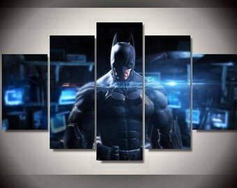 5 Panels DC Comics Batman the Dark Knight Canvas Art Multi Grouped Art Work