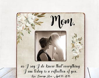 Mom wedding gift from bride mother of the bride gift Wedding thank you gift Parents gift wedding gift for mother of the bride Today a bride