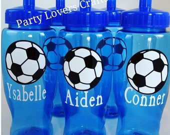 SOCCER GIFT, Soccer team gift, Soccer birthday party favor, Soccer water bottle, Soccer Personalized water bottle, Team gifts