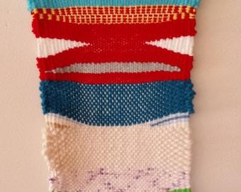 Weaving hand woven