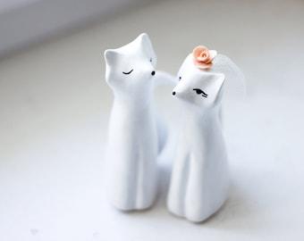 Wedding Cake Topper , Love Foxes, Fox Cake Topper