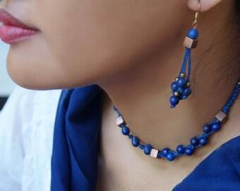 Lapis Lazuli Earrings, Gemstone  Earrings, Tassel Earrings, Long Earrings, 1 Pair