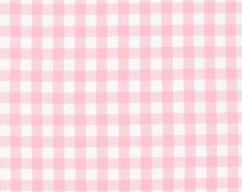 Baby Pink Medium (1/4 inch.) Carolina Gingham Fabric by Robert Kaufman.  100% cotton P-16368-107 - By the Yard